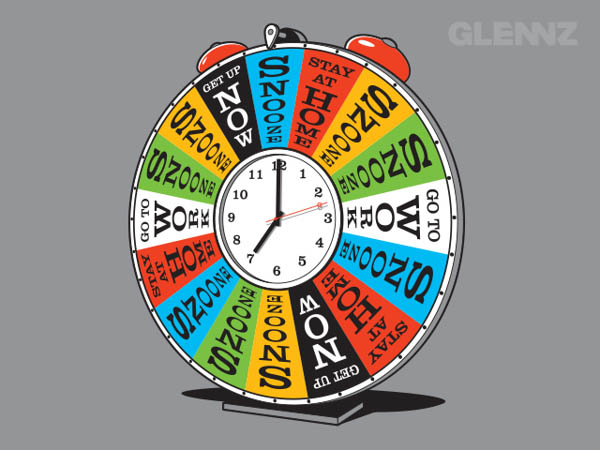 Spin The Wheel - Illustration Concept for Glennz Tees