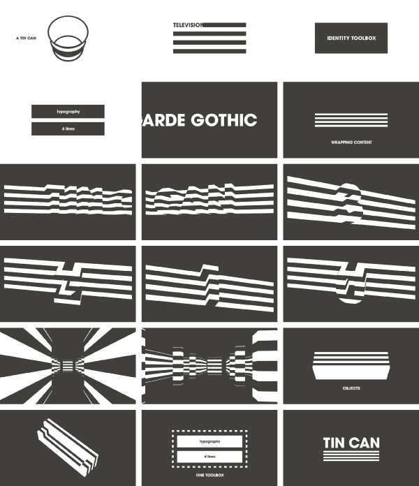 TIN CAN - graphic visual identity by Leon Dijkstra