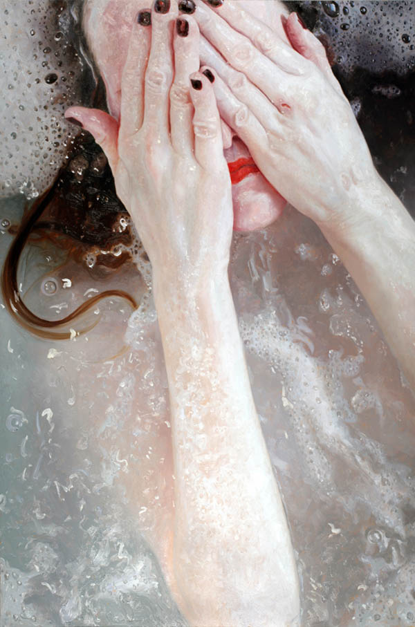 Tell  - oil painting on panel by Alyssa Monks, 2011