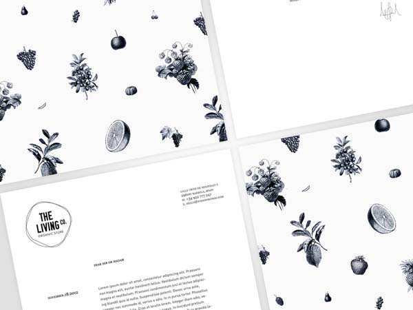 The Living Co. - Organic Store - Identity by Big Horror Athens