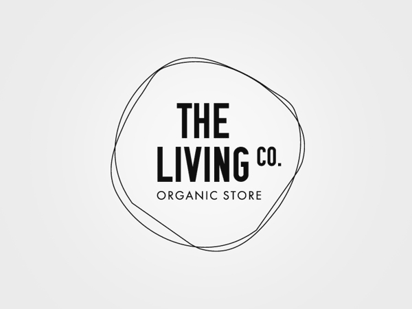 The Living Co. - Organic Store - Logo Design by Big Horror Athens