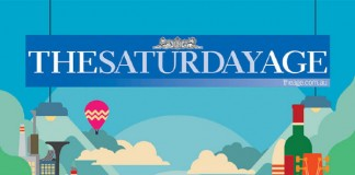 The Saturday Age - Illustration by Simon Bent for Ad Campaign