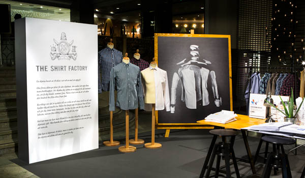 The Shirt Factory - Launch of the new identity at NK