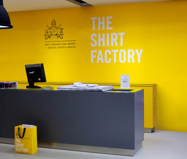 The Shirt Factory - Retail environment - Design by Bold