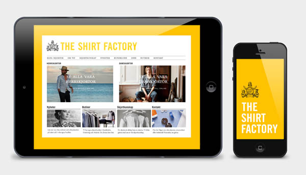 The Shirt Factory - Screen Design by Bold