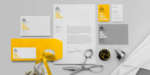 The Shirt Factory - Stationery set - Design by Bold