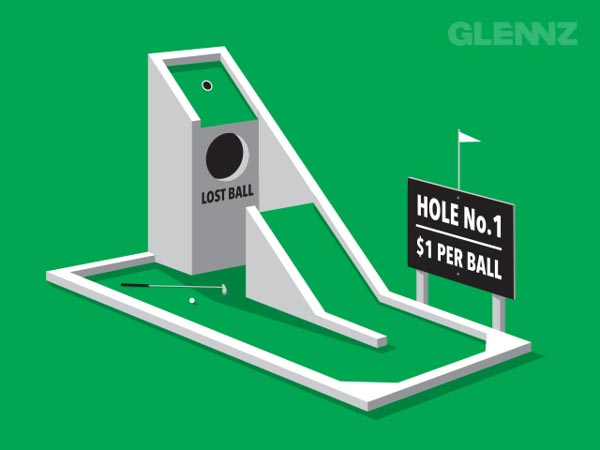 Tough Course - Illustration Concept for Glennz Tees