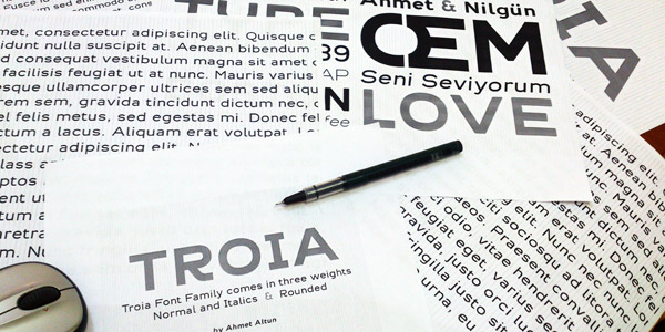 Troia Font Family by Ahmet Altun