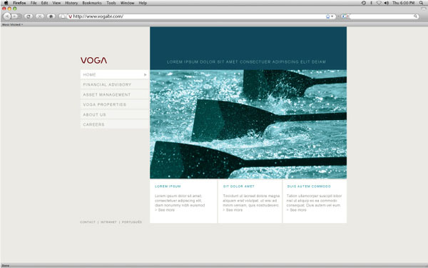 VOGA Website by Roger Oddone