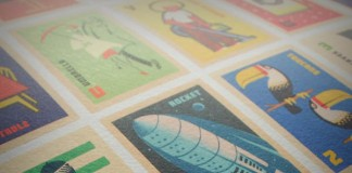 Vintage Matchbox Labels A to Z - Illustrated Alphabet Print by 67 Inc - Detail View