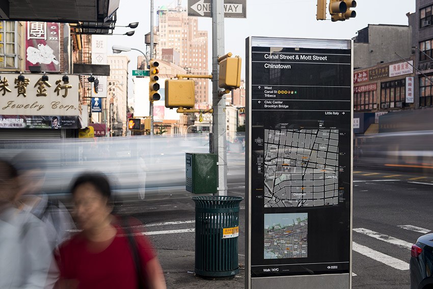 WalkNYC Wayfinding System for NYC Department of Transportation