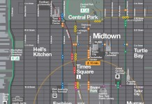 WalkNYC Wayfinding System - Map