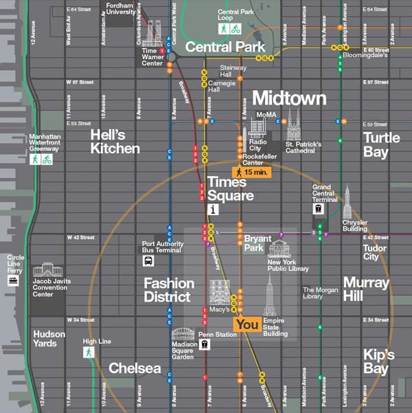 WalkNYC Wayfinding System - Map