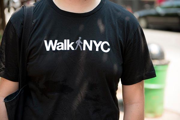 WalkNYC Wayfinding System - T-Shirt from