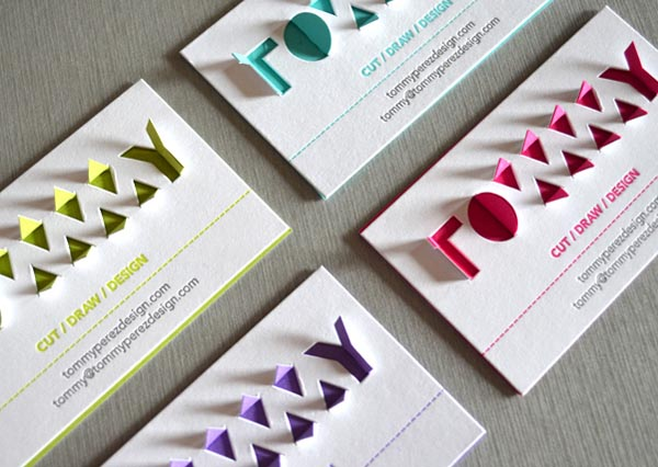Papercut Business Cards by Tommy Perez Papercut Business Cards by Tommy  Perez