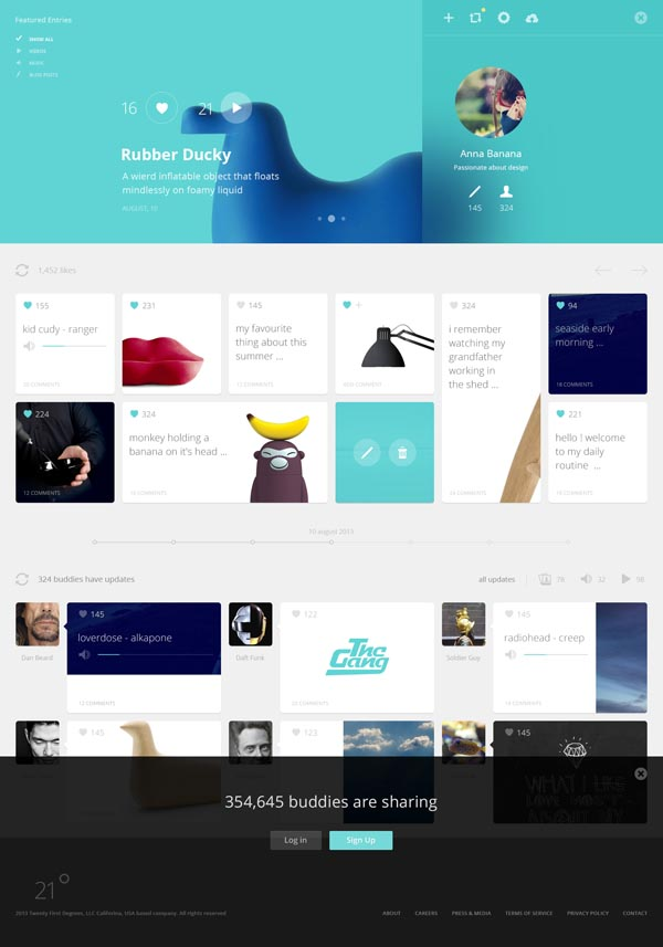 21 Degrees - Web Design by Cosmin Daniel Capitanu