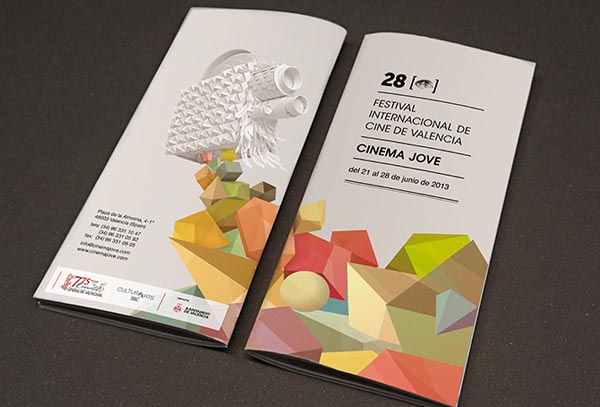 28th Cinema Jove Film Fest - Program Design by Casmic Lab