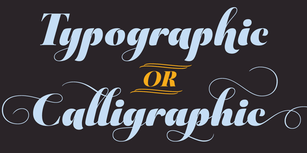 Aparo bold calligraphic typeface by DSType Foundry