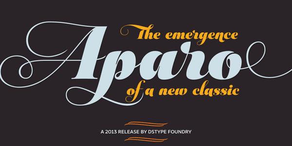 Aparo bold italic font by DSType Foundry