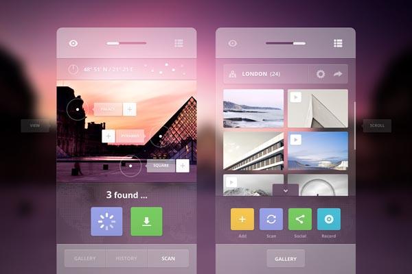 Augmented Tourist User Interface Design by Cosmin Daniel Capitanu