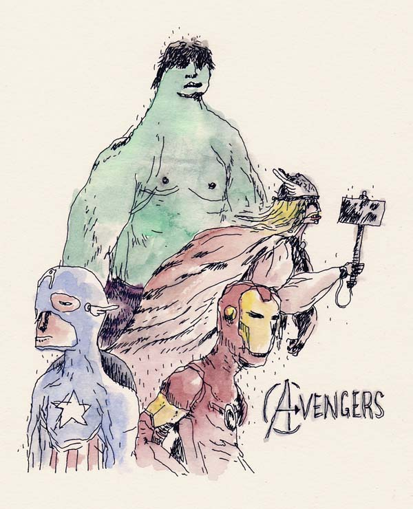 Avengers - Drawing by Ghosttthead