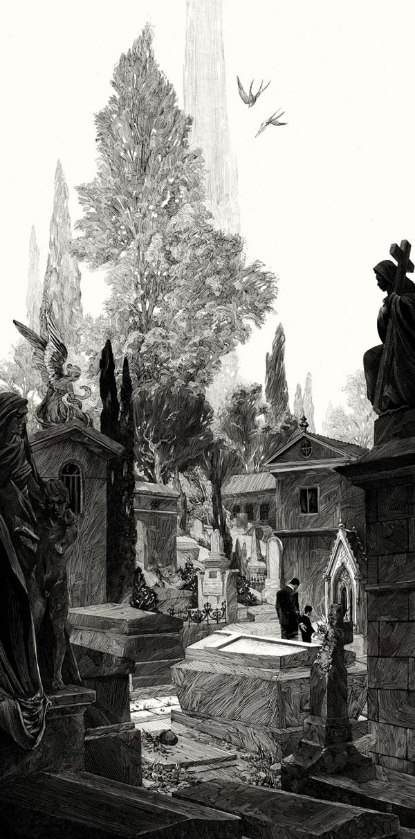 Black and White Illustrations by Nicolas Delort