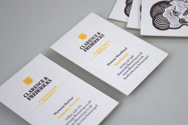 Clarence & Fredericks - Business Cards by Fieldwork