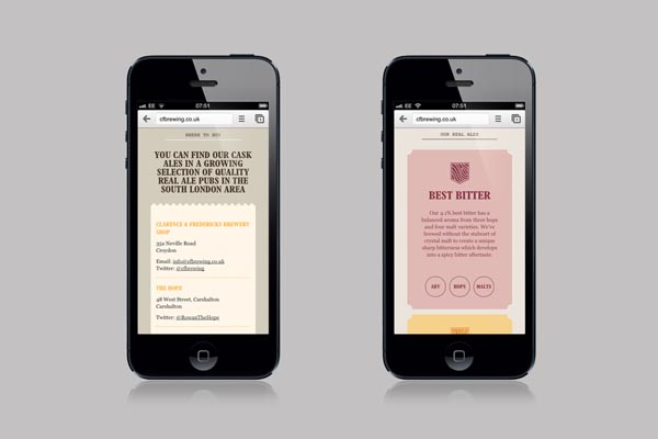 Clarence & Fredericks - Mobile Website Design by Fieldwork