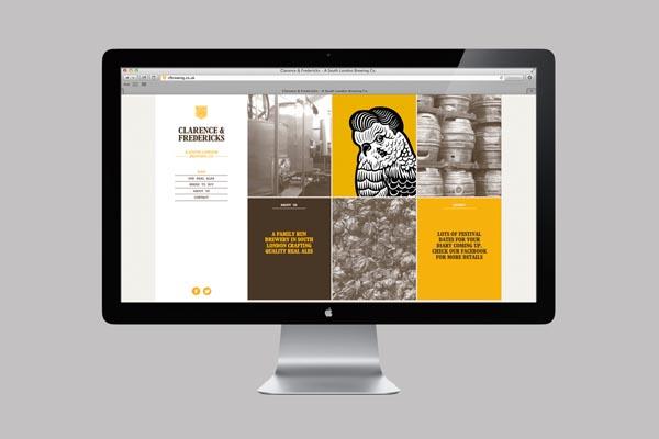 Clarence & Fredericks - Website by Fieldwork