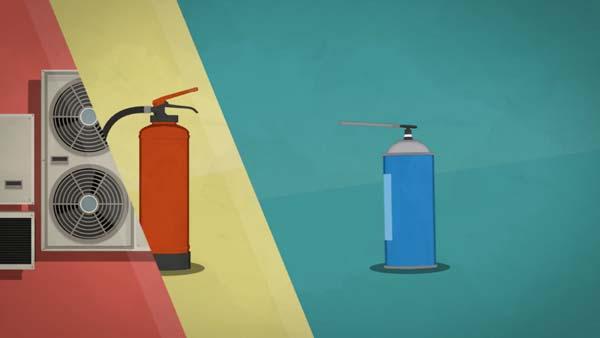 F-Gases - Illustration and Animation by Uli Henrik Streckenbach