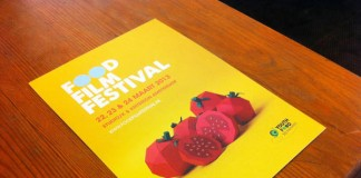 Food Film Festival Poster Paper Artwork by Alexis Facca