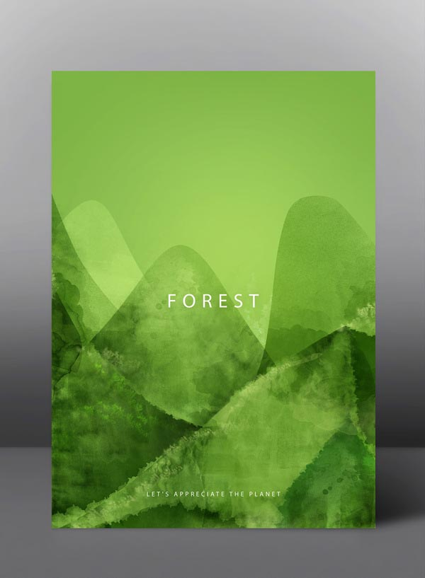 Forest - Let's appreciate the planet - Graphic Poster Series by jDstyle