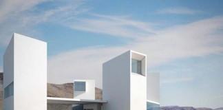 Four Eyes House in Coachella Valley, California by Edward Ogosta Architecture