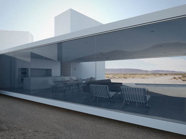 Four Eyes House in Coachella Valley, California by Edward Ogosta Architecture