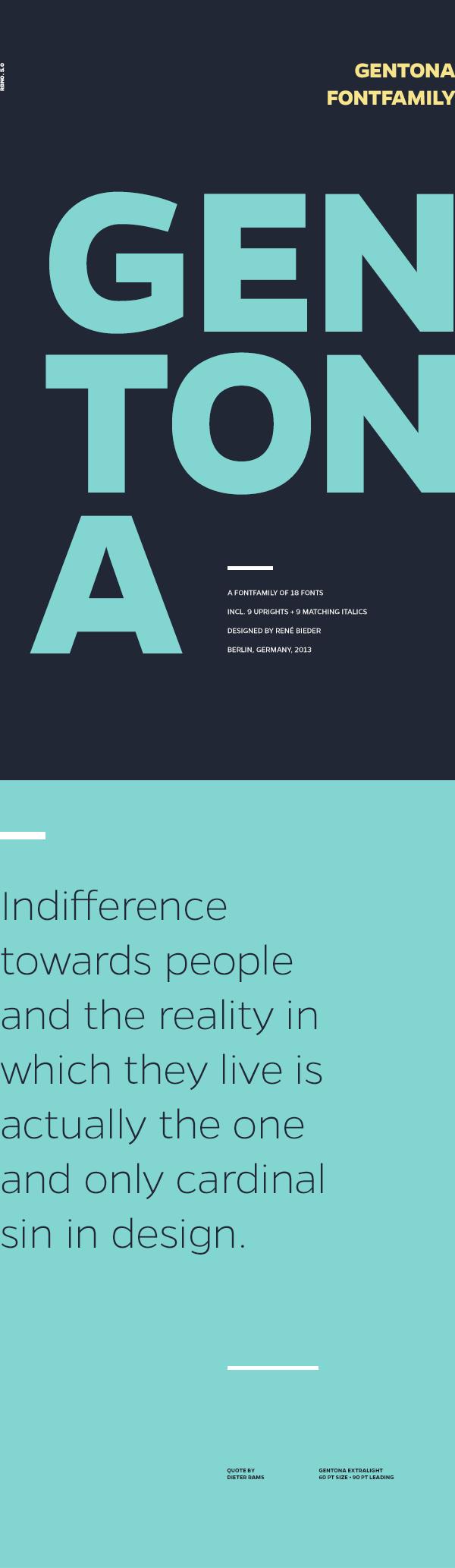 Gentona - font family by Rene Bieder