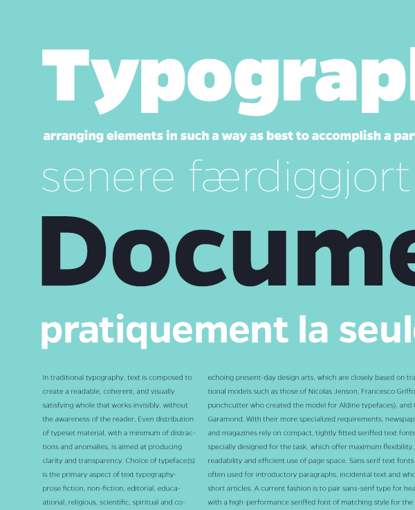 Gentona - sans serif typeface by Rene Bieder
