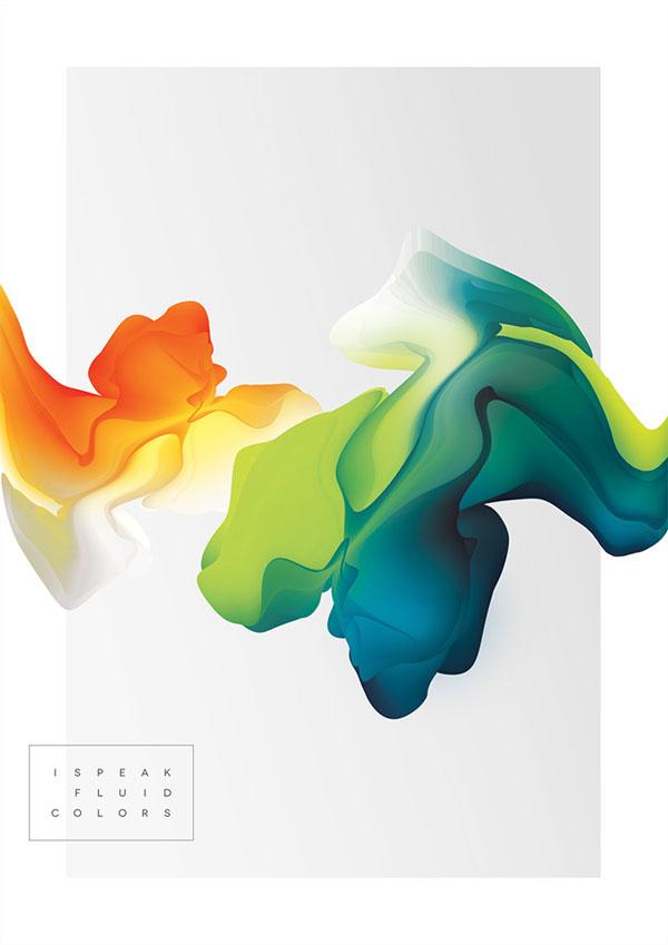 I speak fluid colors - Digital Art Project by Maria Grønlund