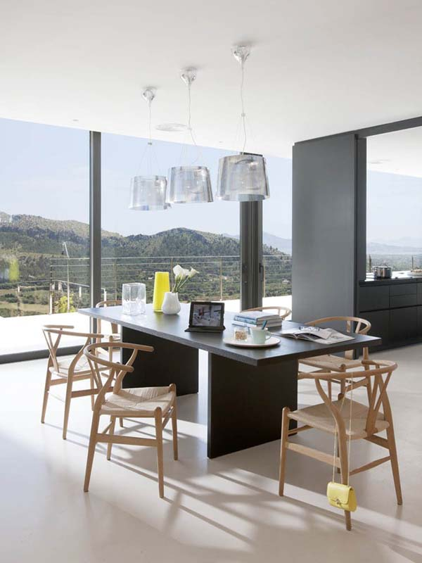 Dining Room of the Casa 115 in Mallorca, Spain by Architect Miquel Lacomba