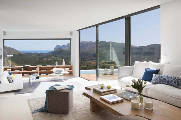 Living Room of the Casa 115 in Mallorca, Spain by Architect Miquel Lacomba