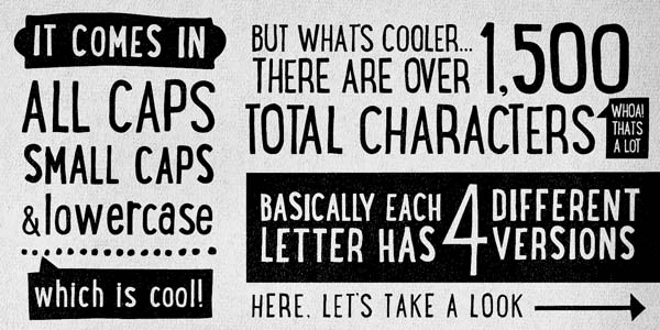 Lunchbox - grungy typeface by Kimmy Design