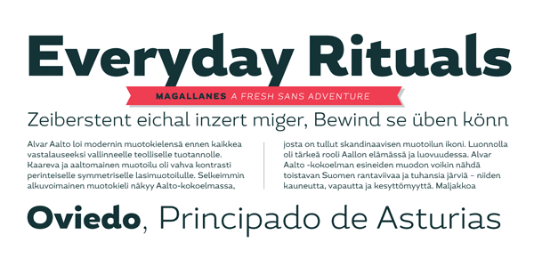 Magallanes sans serif font family by Latinotype