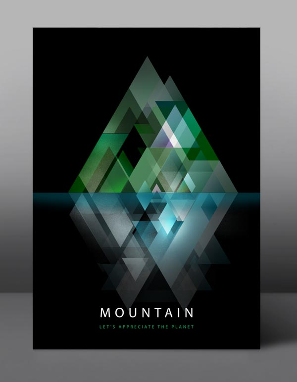 Mountain - Let's appreciate the planet - Graphic Poster Series by jDstyle