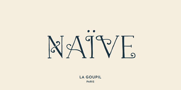 Naive Fantaisies - handwritten serif font by La Goupil