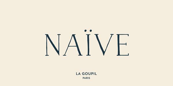 Naive - handwritten serif typeface by La Goupil