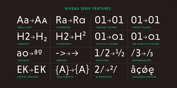 Niveau Serif - Weights