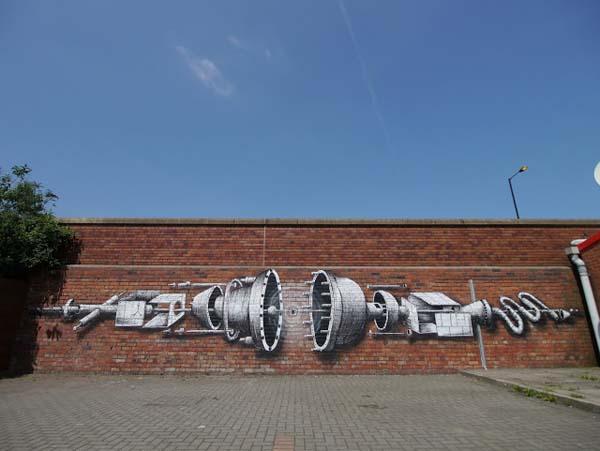 Phlegm Street Art Painting - Atlas way, Sheffield