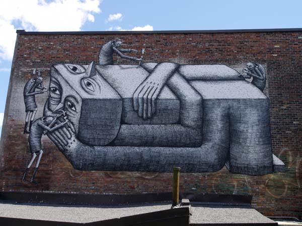 Phlegm Street Art Painting - Boulevard St-Laurent, Montreal, Canada