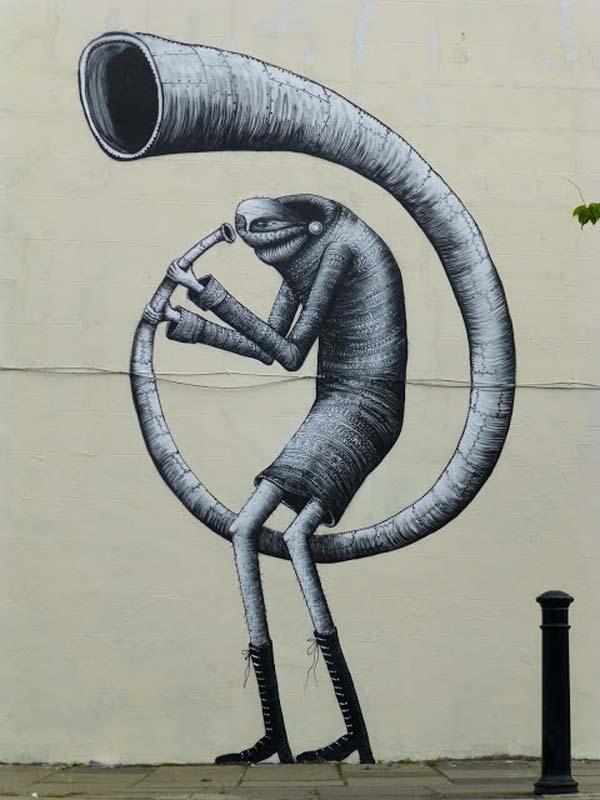 Phlegm Street Art Painting - Dulwich, South London