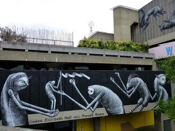 Phlegm Street Art Painting - Southbank centre, London
