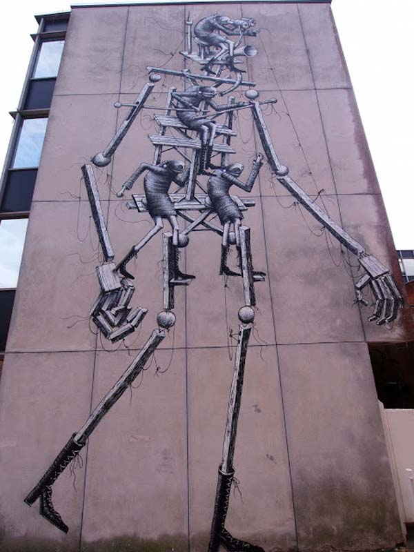 Phlegm Street Art Painting in Sunny Chichester
